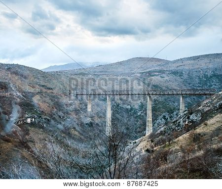 The Highest Railway Bridge In Europe Near Kolasin