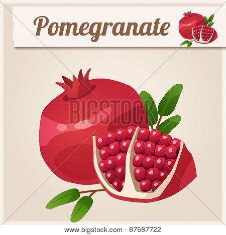 Detailed Icon. Pomegranate.