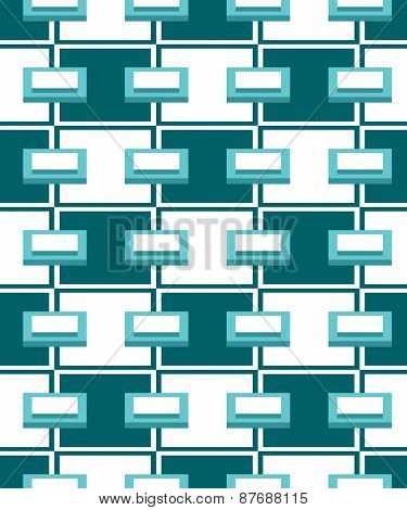Abstract Blue Geometric Seamless Pattern.