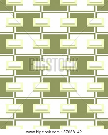 Abstract Green Geometric Seamless Pattern.