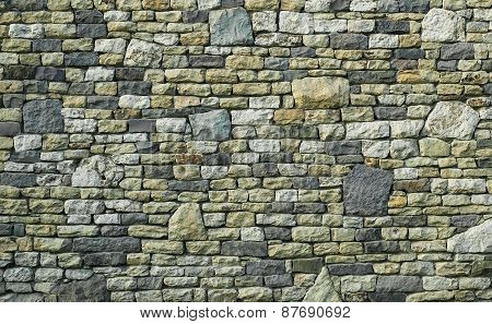 Multicolor Stone Wall Texture