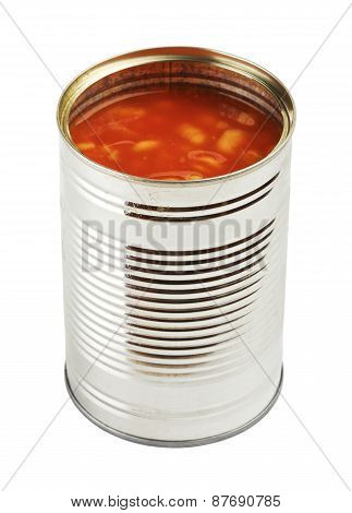 Opened Tincan With Beans