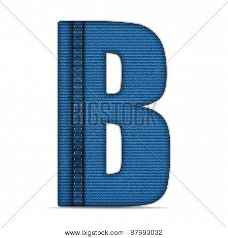 Alphabet Blue Jeans Letter