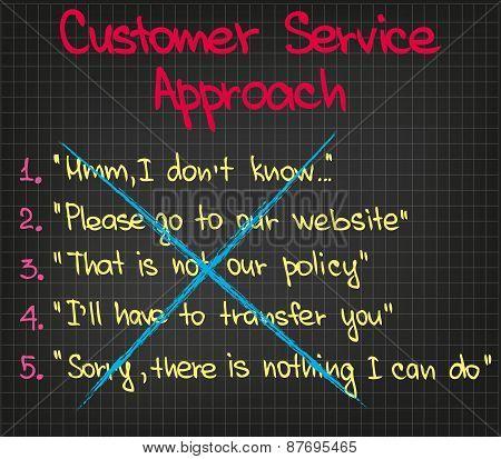 Wrong Customer Approach