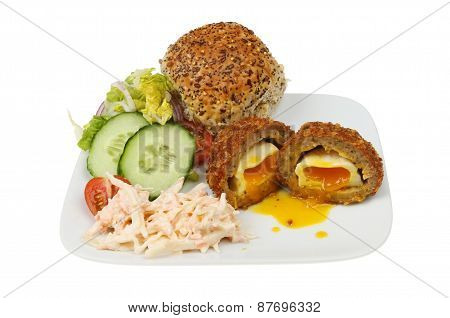 Scotch Egg And Salad