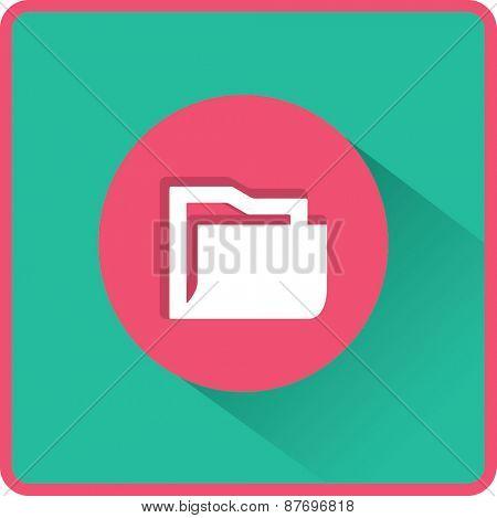 Flat icon of folder