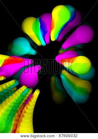 Colorful Abstract Background - Out Of Focus Party Lights Streaks