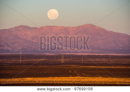 Full-moon, Atacama Desert Of Chile