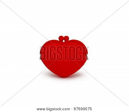 Red Purse Isolated On White Background Cutout