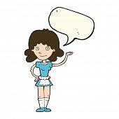 foto of maids  - cartoon maid with speech bubble - JPG