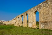 picture of aqueduct  - Panorama of Ottoman Kamares Aqueduct  - JPG