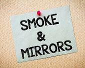 pic of recycled paper  - Smoke and Mirrors Message - JPG