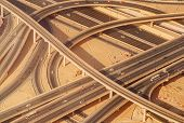 stock photo of dubai  - Highway road intersection in Dubai - JPG