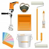 foto of respiration  - Painting Tools including mixer - JPG
