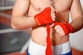 stock photo of bandage  - Boxing bandage - JPG