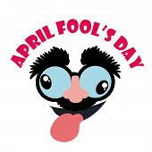 stock photo of fool  - April fools day design - JPG