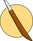 image of woodcarving  - wood carving and whittling knife - JPG