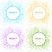 picture of perfume  - Set of Colorful Light Abstract Circles Frames Design Elements - JPG