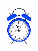 picture of analog clock  - blue bell clock  - JPG