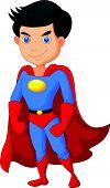 picture of incredible  - Vector illustration of Cartoon Super hero boy posing - JPG