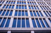 pic of framing a building  - Full frame take of the facade of a modern office building - JPG