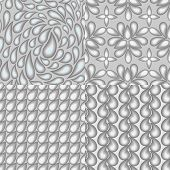 foto of grayscale  - Set of four abstract seamless patterns which reflect the theme of water elements - JPG