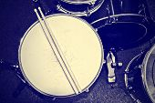 picture of drum-set  - Drums conceptual image - JPG