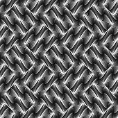picture of diagonal lines  - Design seamless monochrome waving pattern - JPG