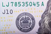 stock photo of 100 dollars dollar bill american paper money cash stack  - An Abstract of One Hundred Dollar Bills with Narrow Depth of Field closeup - JPG