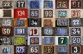 pic of numbers counting  - Collection of House numbers old house number vintage - JPG