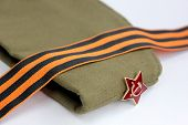 picture of army  - Military garrison cap of the soldier Krasnoy  - JPG