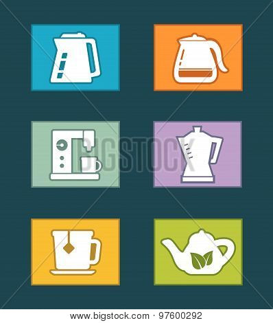 kettle icons set