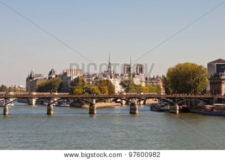 View Of The Pont Des Arts, Paris
