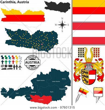 Map Of Carinthia, Austria