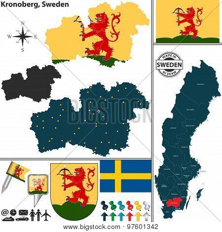 Map Of Kronoberg, Sweden