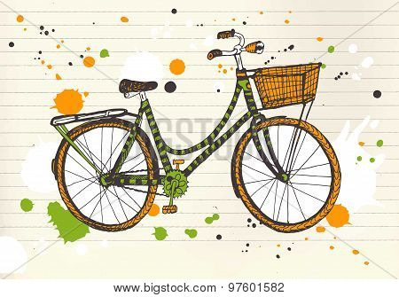 Colorful City Bicycle