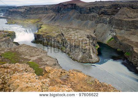 The Jokulsargljufur canyon