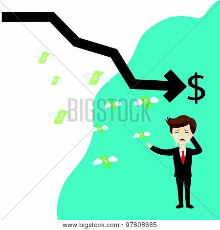 Businessman Failure Finance