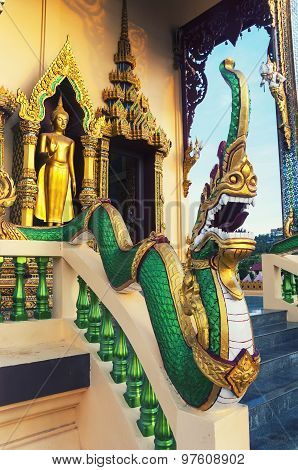Famous Wat Plai Laem Temple in Ko Samui, Thailand