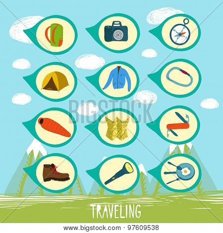 Traveling Equipment Set