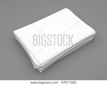 Ream Of White Paper Sheets