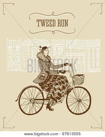 Vintage Lady Cyclist