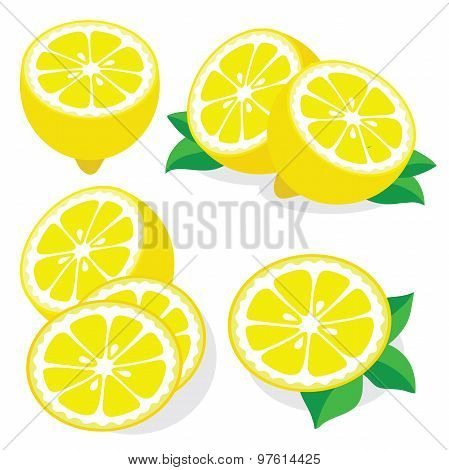 Lemon Vector Illustrations