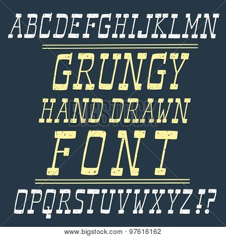 Hand Drawn Vector Font