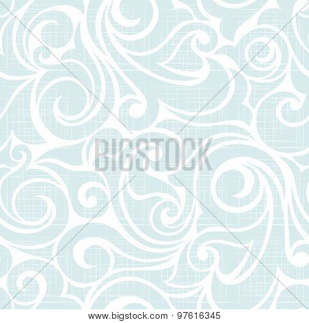 Seamless blue and white pattern. Vector illustration.