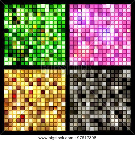 Four seamless mirror mosaic