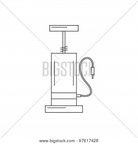 bicycle pump outline icon isolated on white background