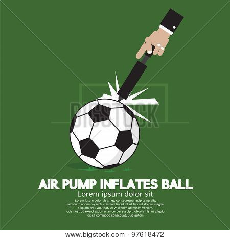 Air Pump Inflates Ball.