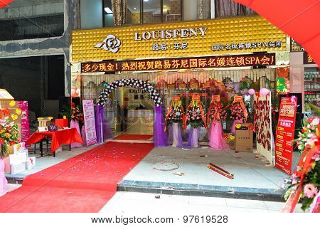 SHENZHEN, CHINA - JANUARY 06, 2015: shopping center in ShenZhen. ShenZhen is regarded as one of the most successful Special Economic Zones.