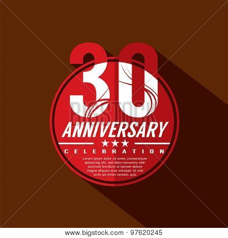 30 Years Anniversary Celebration Design.